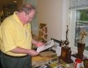 John M. Nowell III '69 studies the memorabilia