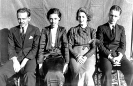 Lillian (Holloway) Keene with classmates of 1935