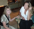 Vickie and Ann visit on Friday night